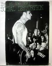 SOCIAL DISTORTION BLISTERINGLY RARE MIKE NESS LIVE ROXY CD / LP COVER ART POSTER