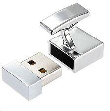 16GB USB Flashdrive Memory Stick Novelty Cufflinks Silver Men Gift + FREE GIFT
