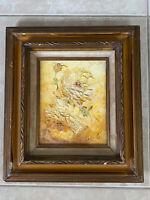 Vintage Original Oil Painting Canvas 3D Floral Paco G. Francisco Garcia Baja