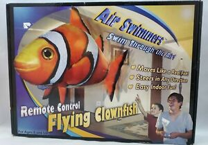 Flying Clown Fish Remote Control Toy Balloon by Air Swimmers Gift New Open Box
