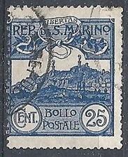 1903 SAN MARINO USATO VEDUTA 25 CENT - RR10213
