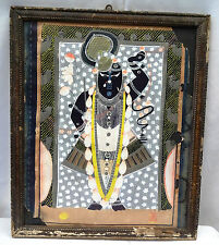 ANTIQUE MINIATURE PAINTING OF LORD KRISHNA/SHREENATHJI WATER COLOR COLLECTIBLE 4
