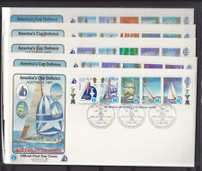1986 AMERICAS CUP SOLOMON ISLANDS FULL SET OF 10 COVERS RARELY SEEN ON COVER!!!