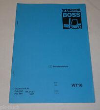 Betriebsanleitung Boss Steinbock Hubwagen Gabelstapler Ameise WT 16 / WT16