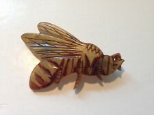A Large unusual Art Deco HORNET Broach made from Horn