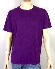 vtg 80s Russell Athletic soft thin Blank Solid Purple T-Shirt Punk Indie sz Xl