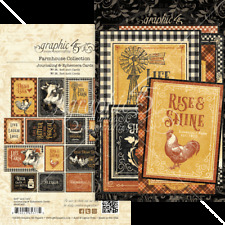 Graphic 45 FARMHOUSE Ephemera & Journaling Cards x32