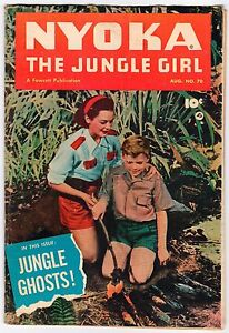 Fawcett NYOKA THE JUNGLE GIRL #70 - G/VG Aug 1952 Vintage Comic