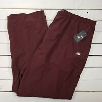 New Balance NB All Conference Track Pants Mens 3XL Maroon Warm Ankle Zip NBMR4