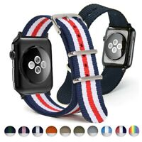 Nylon Watchband For Apple iWatch Bracelet Wrist Band Army Military 38/40/42/44mm