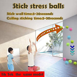 4.5cm Sticky Wall Ball Globle Squishy Relief Kids Toy for Ceiling Stress Relief