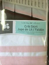 Just Born Crib Skirt, Pink/White