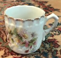 Antique China Floral Daisies Design Shaving Mug or Cup - Turn of the Century!
