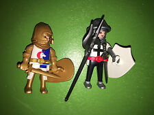 Loose Playmobil UNICORN KNIGHT 5815 AND CRUSADER from Mystery Figure Series