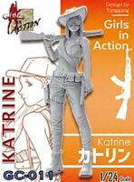 ZLPLA Genuine 1/24 Girls in Action Katrine Resin Figure Assembly Model GC-011