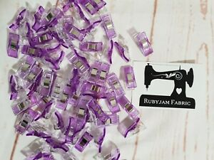Pack of 50 Wonder Clips PURPLE for stretch knits, quilting, Sydney stock
