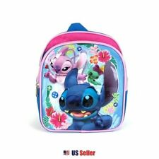 "Disney Lilo and Stitch Mini School Backpack 10"" : Stitch and Angel (Pink)"