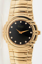 $25,000 Piaget Diamond 18k Yellow Gold MIDSIZE Ladies Dress Watch 151g HEAVY