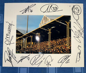 Fulham FC Hand Signed 2021/22  10x8 Photo Mount Display, COA Signed By 11 C