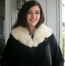 Vintage Plush White Rabbit Fur Collar Scarf Women's Fur Coat Collar