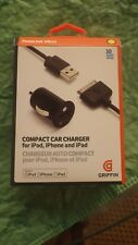Griffin Compact Car Charger for iPod, iPhone & iPad GC23128 - Black 6853873118