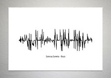 Leona Lewis - Run - Sound Wave Print Poster Art