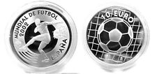 2002 Spain Large Proof Silver 10 Euro-Soccer(Football) World Cup Germany