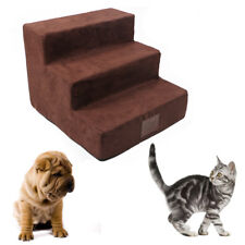 Dog Steps For High Bed 3 Steps Pet Stairs Small Dogs Cats Ramp Ladder Portable
