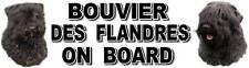 BOUVIER DES FLANDRES ON BOARD Car Sticker by Starprint