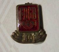 DDR GDR Anstecker Abzeichen Pin FDGB Ehrennadel für 40 jährige Mitgliedschaft