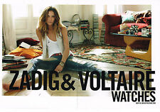 PUBLICITE ADVERTISING 014   2011   ZADIG & VOLTAIRE  ( 2 pages)