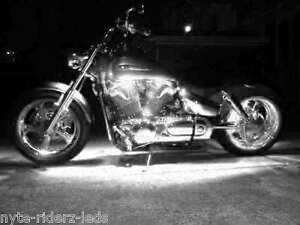 """WHITE 12"""" 5050 SMD LED 2 STRIPS ALL HARLEY YAMAHA TRIUMPH  TOTAL OF 24 LEDS"""