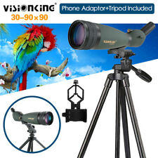 Visionking 30-90x90 Bird Watch Spotting Scope W/cell Phone Adaptor Tripod Bak4