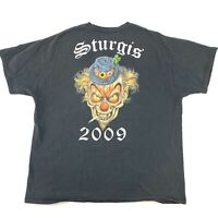 HANES Sturgis Black Size Extra Large 2009 Mens Crazy Clown T-shirt