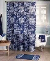 Blue Prescott Croscill Classic Shower Curtain Floral Hooks Accessory Rug Towels