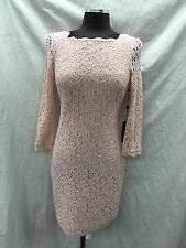 """ADRIANNA PAPELL DRESS/LACE DRESS/LINED/BLUSH/SIZE 10/LENGTH 39""""/RETAIL$160"""