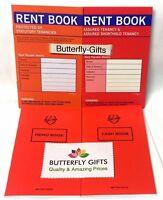 Rent Book Assured Tenancy Short hold Protected Statutory Cash Book Memo Book