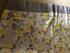 Gray and Yellow Flowered Shower Curtain
