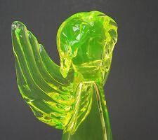Annagelbes Uranglas / Uraniumglass, Vaseline glass,  Engel herrliche Handarbeit