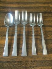 New listing 5 Pieces Mikasa Avenue Frost Stainless 18/10 Silverware Flatware Vietnam