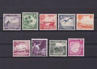 NAURU 1954, SG# 48-56, ships, birds, MNH