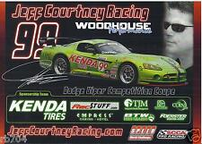 2009 12 Hours of Sebring  Speed World Challenge VIPER Hero Card Jeff Courtney
