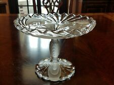Cambridge Caprice Alpine glass compote comport clear frosted glass