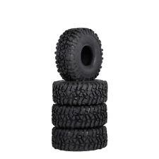 """4Pcs 1:10 RC Rock Crawler 1.9"""" 120mm Rubber Tires Tyre For SCX10 90046 D90 TRX4"""