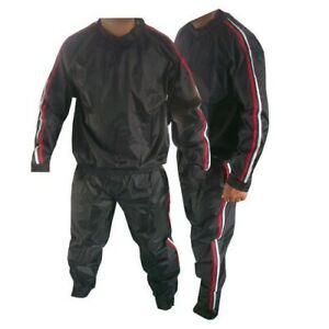 HEAVY DUTY SAUNA SWEAT SUIT EXERCISE GYM SUIT FITNESS ANTI RIP WEIGHT LOSS