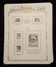 White Ace Stamp Album Pages for Europa, 1996-1997