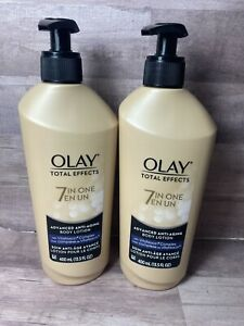 Olay Advanced Anti-Aging Total Effects 13.5 oz Body Lotion 7 in one 2 Pack