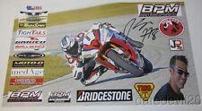 2015 Seth Starnes signed Yamaha YZF-R6 600 Daytona 200 ASRA poster