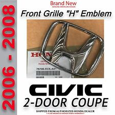 Genuine OEM 2006-2008 Civic 2-Door Coupe Front Emblem (75700-SVA-A01)