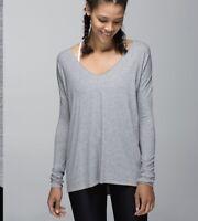 Lululemon Long Sleeve Size 4 Heathered Medium Grey Similar To Flip Your Dog